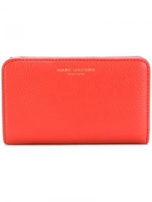Маленький кошелек с логотипом Marc Jacobs. Цвет: жёлтый и оранжевый