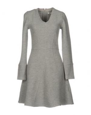 Короткое платье ISSA. Цвет: серый