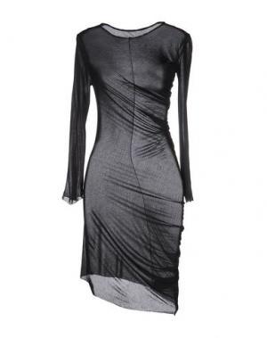 Короткое платье NOSTRASANTISSIMA. Цвет: черный