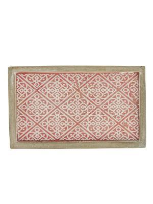 Декоративное блюдо RICH LINE Home Decor. Цвет: розовый, белый, серый