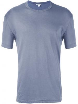Классическая футболка James Perse. Цвет: серый