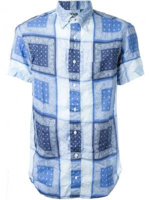 Рубашка  с принтом пейсли Gitman Vintage. Цвет: синий