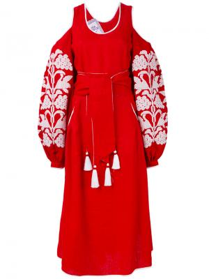Платье Grapes Yuliya Magdych. Цвет: красный