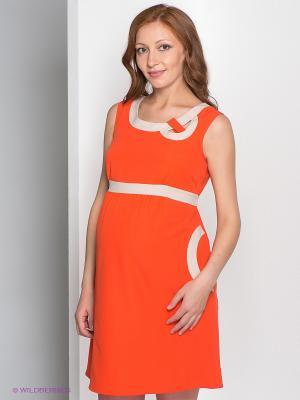 Сарафан Gemko. Цвет: оранжевый, бежевый