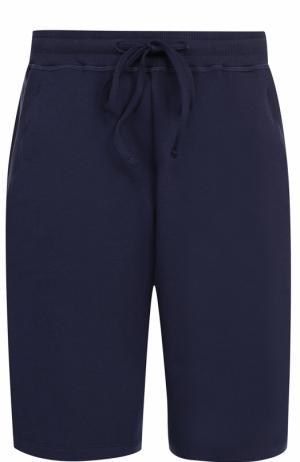 Хлопковые домашние шорты Hanro. Цвет: темно-синий