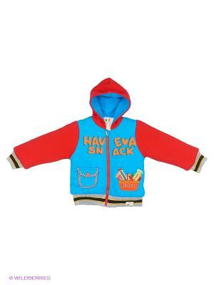 Куртка Kidly. Цвет: голубой, красный