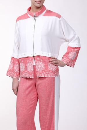Жакет EVA Collection. Цвет: розово-белый