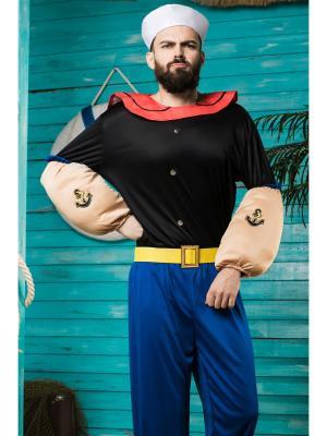 Костюм моряка Папая La Mascarade. Цвет: черный, красный, синий