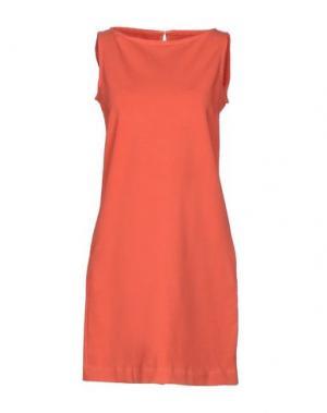 Короткое платье CIRCOLO 1901. Цвет: коралловый