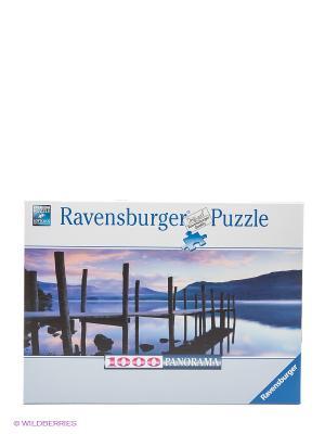Пазл Идиллия на озере, 1000 деталей Ravensburger. Цвет: фиолетовый, белый, синий, сиреневый