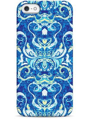 Чехол для Iphone5/5s Sahar. Цвет: голубой, белый, синий