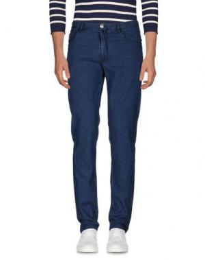 Джинсовые брюки EREDI RIDELLI. Цвет: синий