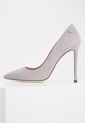 Туфли Pollini. Цвет: серый