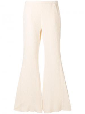 Фактурные расклешенные брюки Rosetta Getty. Цвет: телесный