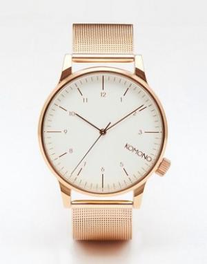 Komono Часы из металла цвета розового золота Winston Royale. Цвет: золотой
