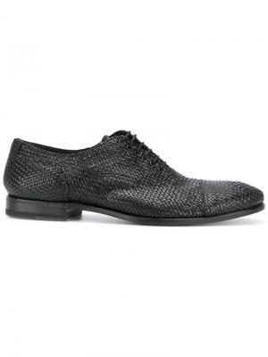 Плетеные ботинки оксфорды Henderson Baracco. Цвет: чёрный