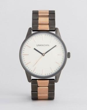 UNKNOWN Классические наручные часы с браслетом цвета розового золота. Цвет: золотой