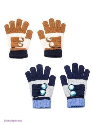 Перчатки, 2 пары FOMAS. Цвет: черный, коричневый, темно-синий
