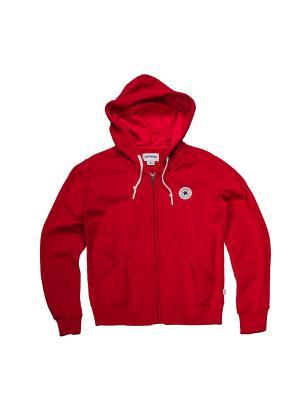 Толстовка Knitted womens LS zip hoodie Converse. Цвет: красный