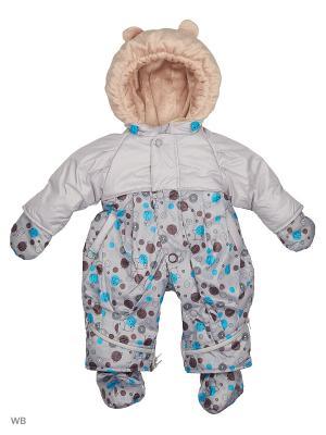 Комбинезон-трансформер для малышей Little Boy. Цвет: серый