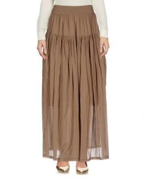 Длинная юбка EUROPEAN CULTURE. Цвет: хаки