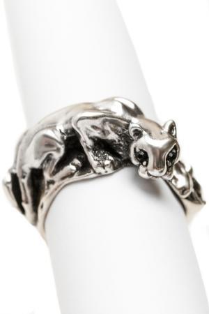 Кольцо Пантера Patricia Bruni. Цвет: серебряный, черный