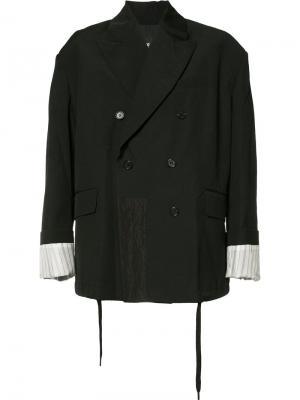 Двубортный пиджак Yang Li. Цвет: чёрный