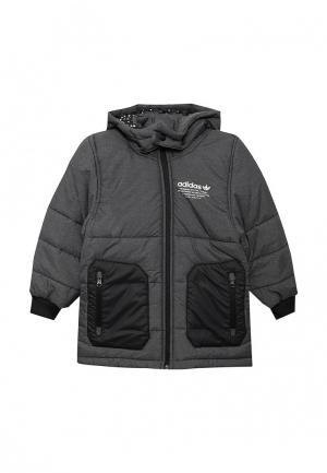 Куртка утепленная adidas Originals. Цвет: серый