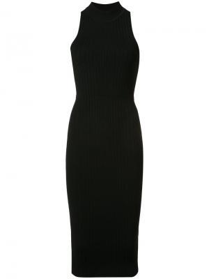 Облегающее платье без рукавов Cushnie Et Ochs. Цвет: чёрный