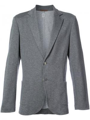 Пиджак строгого кроя Eleventy. Цвет: серый