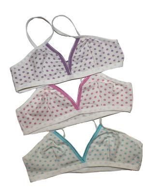 Топ для девочки, 3 шт Ots. Цвет: голубой, фиолетовый, розовый