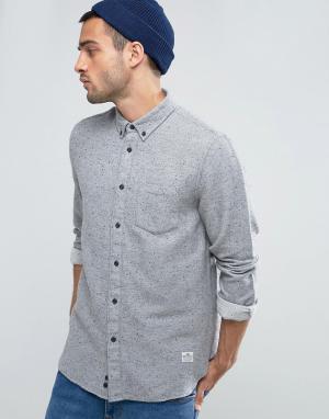 Penfield Серая фланелевая рубашка в крапинку на пуговицах. Цвет: серый
