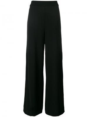 Классические брюки-палаццо Roberto Collina. Цвет: чёрный