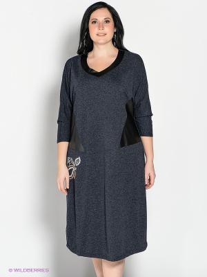 Платье Silver-String. Цвет: темно-синий