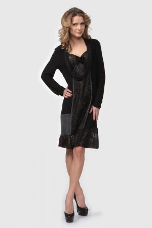 Платье Frank Lyman Design. Цвет: черный, леопардовые вставки