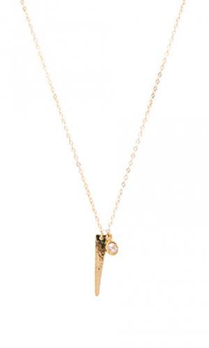 Ожерелье to the point Mimi & Lu. Цвет: металлический золотой