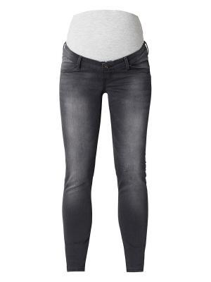 Потертые зауженные джинсы Queen Mum. Цвет: черный