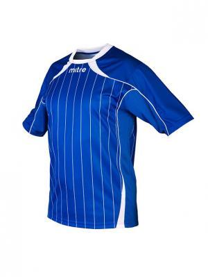 Футболка игровая MITRE Modena Взрослая. Цвет: синий, белый