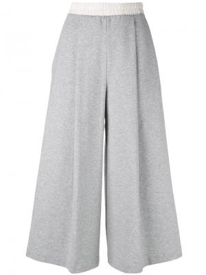 Укороченные брюки из джерси Ballantyne. Цвет: серый