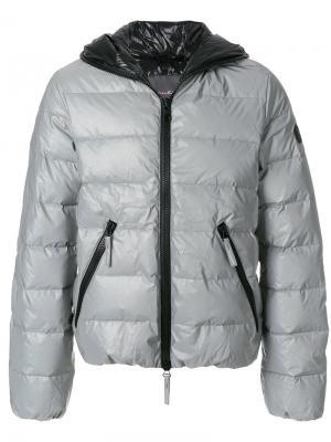 Пуховая куртка с капюшоном Hydrogen. Цвет: серый