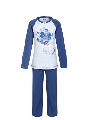 Пижама BAYKAR. Цвет: темно-синий
