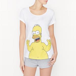 Пижама с шортами  Simpsons. Цвет: белый/ серый