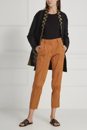 Шелковые брюки Etro. Цвет: красный, желтый