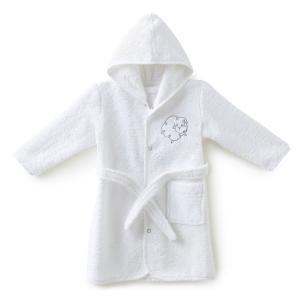 Пеньюар детский махровый LITTLE SHEEP La Redoute Interieurs. Цвет: белый,бледно-зеленый,розовый телесный,серо-бежевый