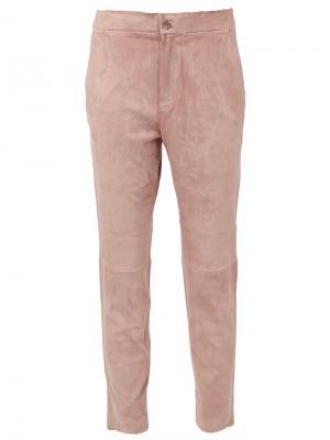 Укороченные брюки Stouls. Цвет: розовый и фиолетовый