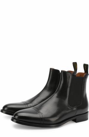 Классические кожаные челси Doucals Doucal's. Цвет: черный