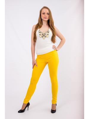 Брюки (джеггинсы) OSA. Цвет: желтый