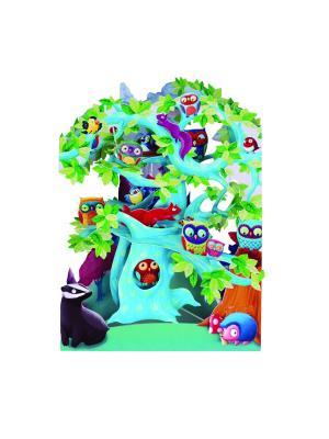 Объемная открытка  Веселые совы Даринчи. Цвет: розовый