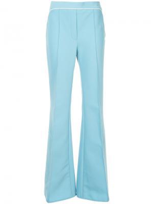 Расклешенные брюки Orlando с контрастной окантовкой Ellery. Цвет: синий