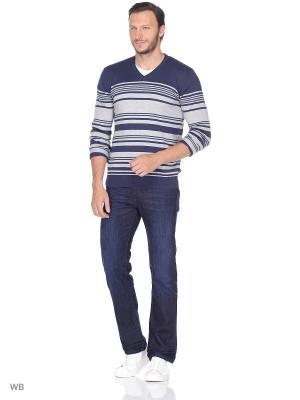 Пуловер Wrangler. Цвет: темно-синий, белый